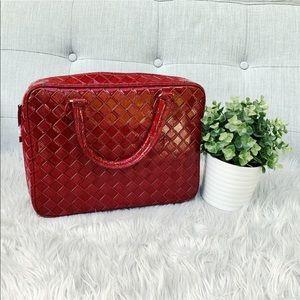 NWOT Red Croc Makeup Bag